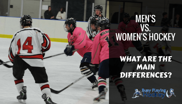 differences between mens and womens hockey