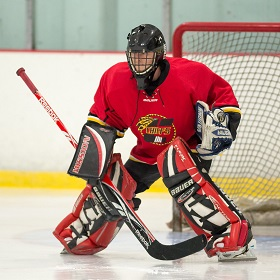ice hockey goalie position