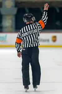 offside referee sign